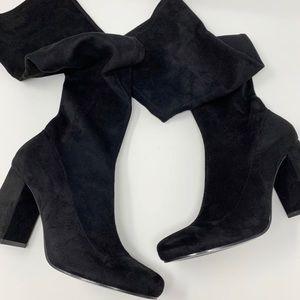 Zara over the knee boots black